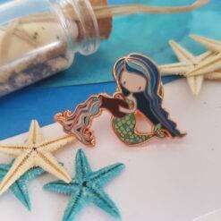 Aquarius Mermaid Enamel Pin