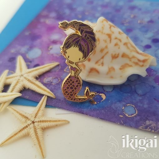 Scorpio Mermaid Enamel Pin