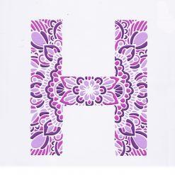 Mandala Letters - Purple H