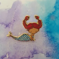 enamel pin - cancer zodiac mermaid