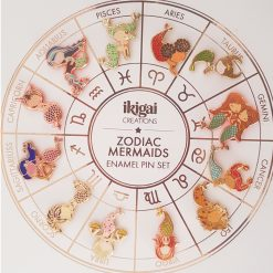 Zodiac Mermaid Enamel Pins Set of 12