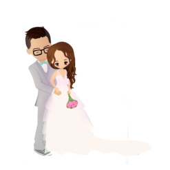 Wedding Portrait Caricature - no background