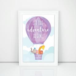 et the adventure begin mockup - white frame