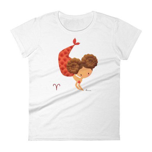 Aries Zodiac Mermaid Tshirt Front