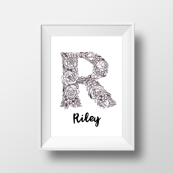 """R"" Floral Monogram"