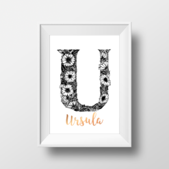 U is for Ursinia - Floral Monogram