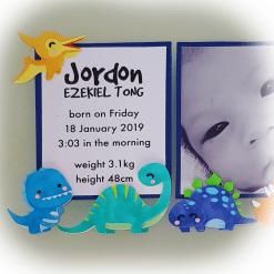paper dino - birth announcement mockup - jordan tong - zoom in