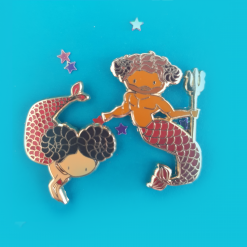 Aries Zodiac Merfolk Mini Enamel Pins