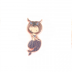 Capricorn Zodiac Mermaid Pin
