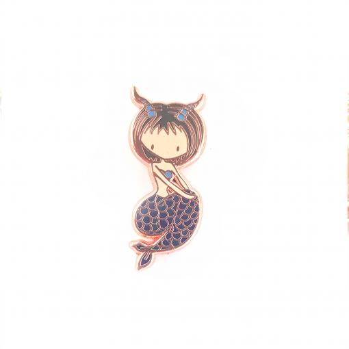 Capricorn Zodiac Mermaid Pin