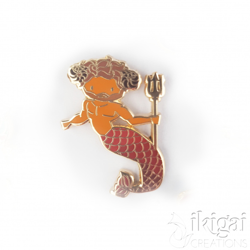 Aries Zodiac Merman Mini Enamel Pin