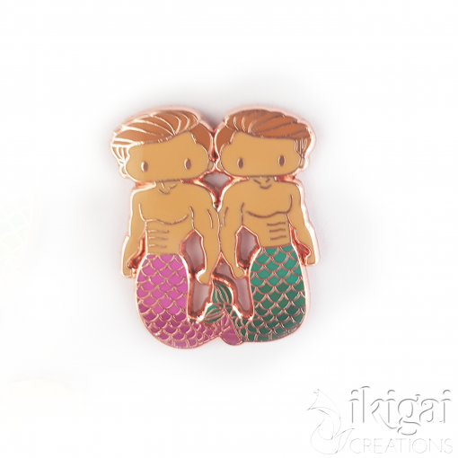 Gemini Zodiac Merman Mini Enamel Pin