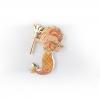 Leo Zodiac Merman Mini Enamel Pin