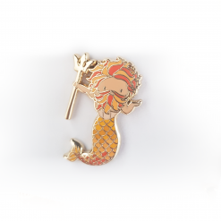 Leo Zodiac Merman Mini Enamel Pin