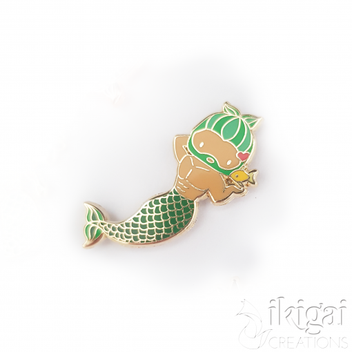 Pisces Zodiac Merman Mini Enamel Pin