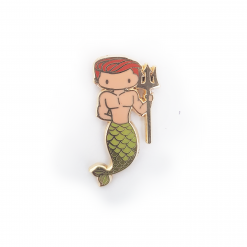 Virgo Zodiac Merman Mini Enamel Pin