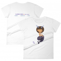 Capricorn Zodiac Mermaid Tshirt Front & Back