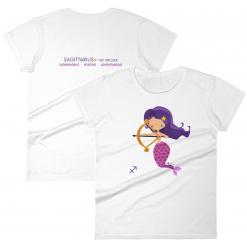 Sagittarius Zodiac Mermaid Tshirt Front & Back