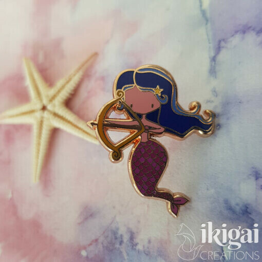 Sagittarius Mermaid Pin