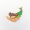 Taurus Zodiac Merman Mini Enamel Pin