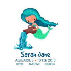 Personalised Aquarius Mermaids Print