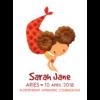 Personalised Aries Mermaids Print