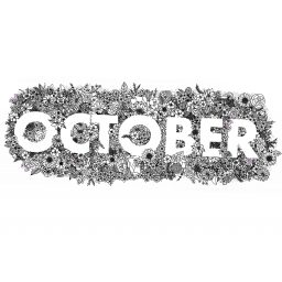 October Florals Colouring Page A4